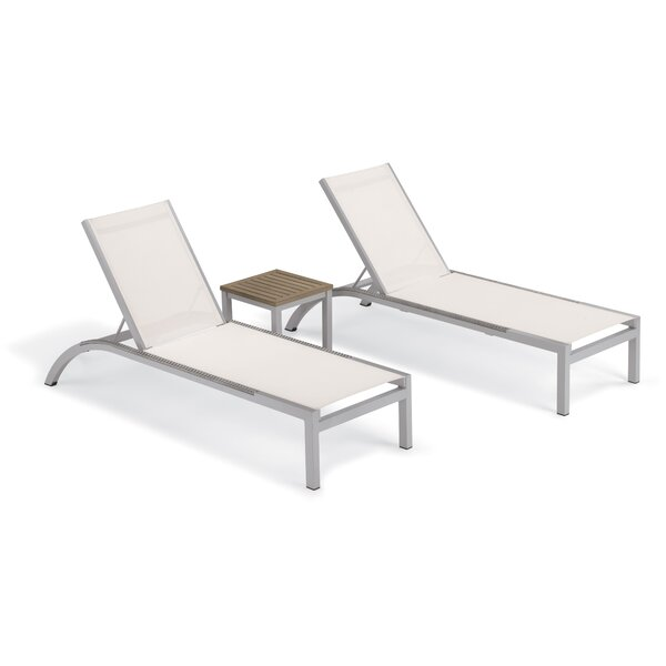 Saleem Reclining Chaise Lounge with Table