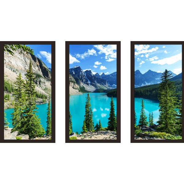 Banff National Park 3 Piece Framed Photographic Print Set by Picture Perfect International
