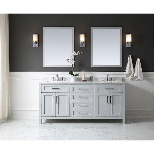 Tahoe 72 Double Bathroom Vanity Set with Mirror by Ove Decors