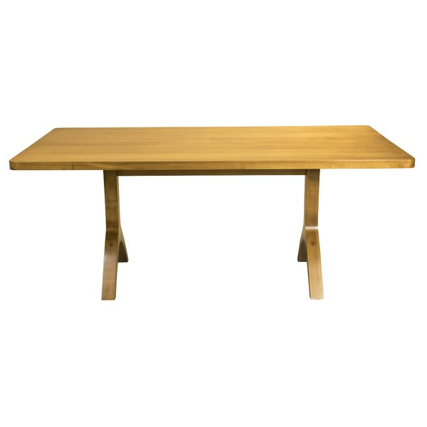 Burnished Ebling Maple Solid Wood Dining Table by Brayden Studio