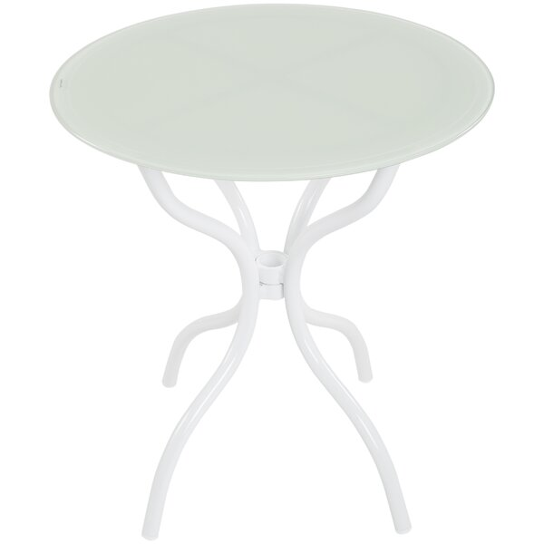 Holiman Glass Side Table by Ebern Designs