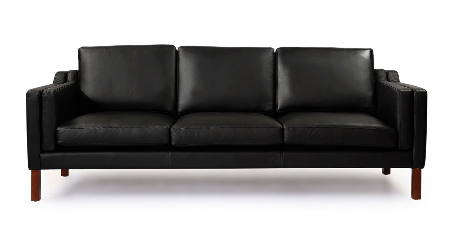 Provencher Mid Century Modern Leather Sofa & Reviews | AllModern