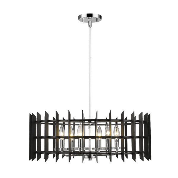 Bedgood 6 - Light Candle Style Geometric Chandelier by Ivy Bronx Ivy Bronx