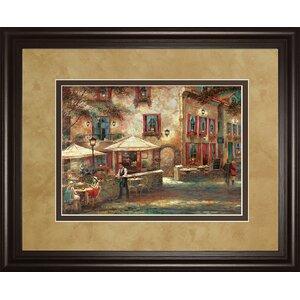 'Courtyard Café' Framed Painting Print by Fleur De Lis Living