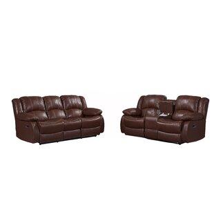Klyszejko 2 Piece Leather Reclining Living Room Set by Red Barrel Studio®