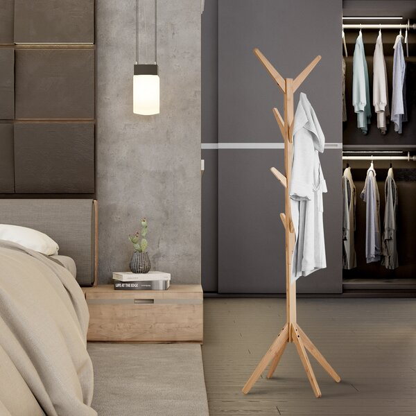 Amezquita Free Standing Bamboo Tree-Shaped Display Coat Rack by Foundry Select