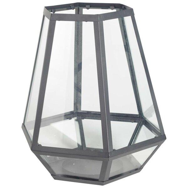 Calabar Metal and Glass Lantern by Breakwater Bay