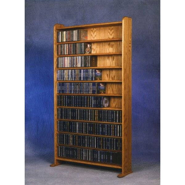 1000 Series 830 CD Multimedia Storage Rack by Wood