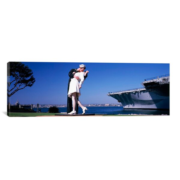 Panoramic Unconditional Surrender, San Diego Aircraft Carrier Museum Photographic Print on Wrapped Canvas by iCanvas