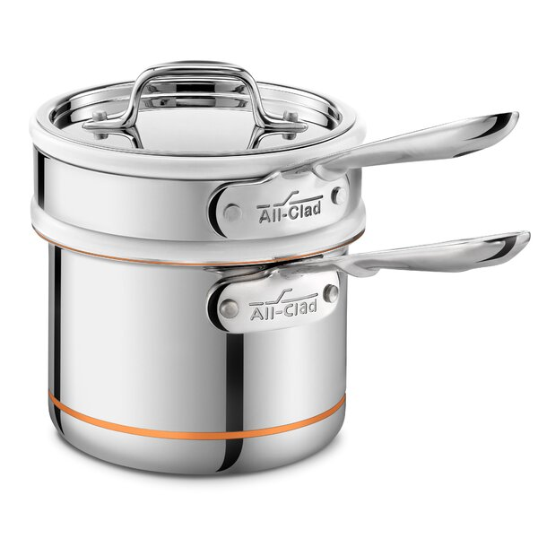 Copper Core 1.5-qt. Double Boiler with Lid by All-Clad