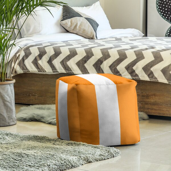 Tennessee Stripes Cube Ottoman By East Urban Home