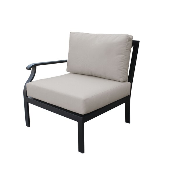 Madison Right Hand Patio Chair with cushions by kathy ireland Homes & Gardens by TK Classics