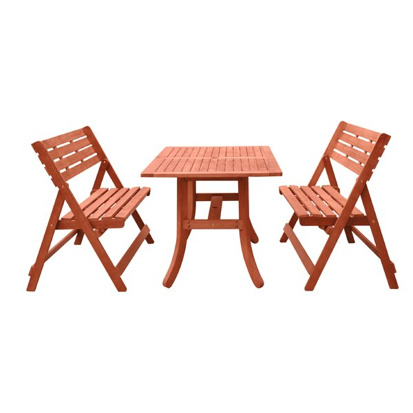 Casto 3 Piece Dining Set by Longshore Tides