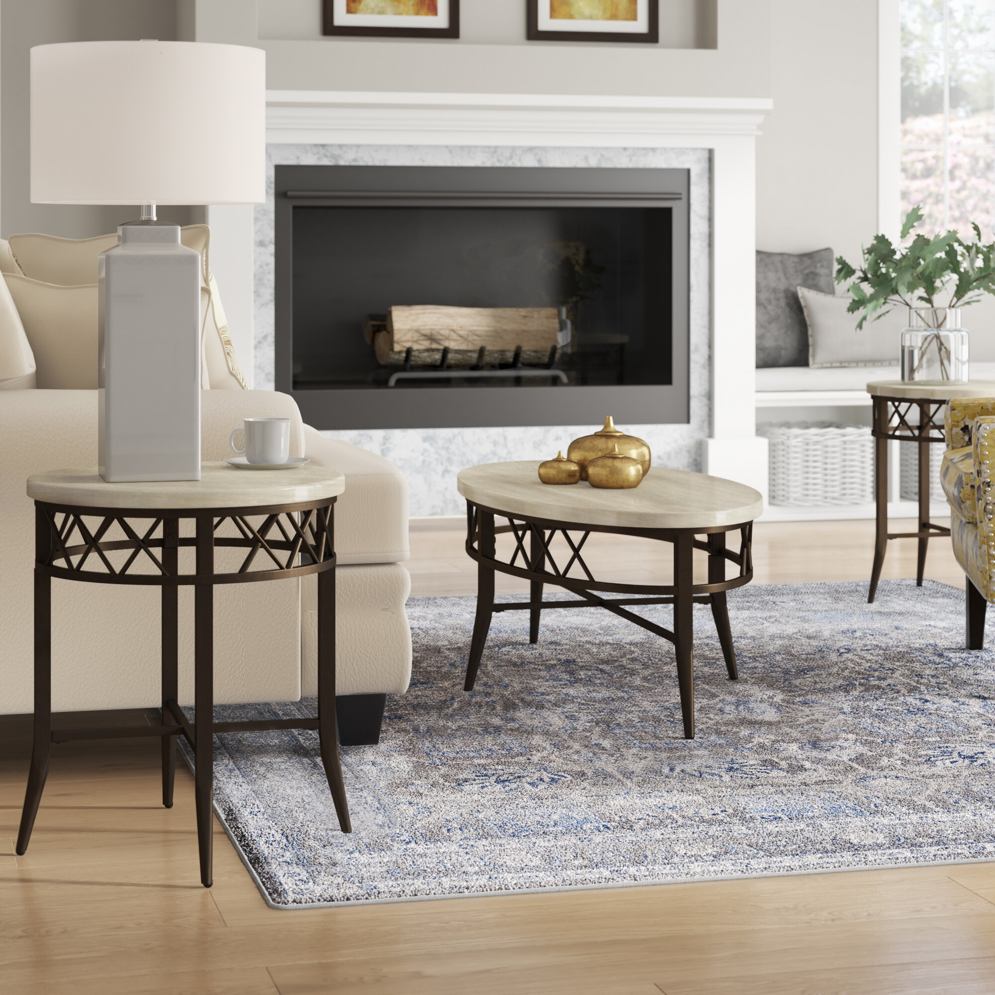 Bedfordshire 11 Piece Coffee Table Set