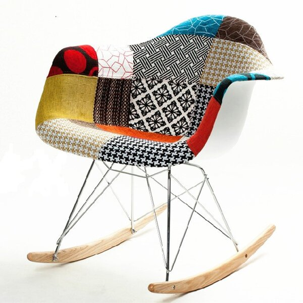 Patterned Rocking Chair by Fine Mod Imports