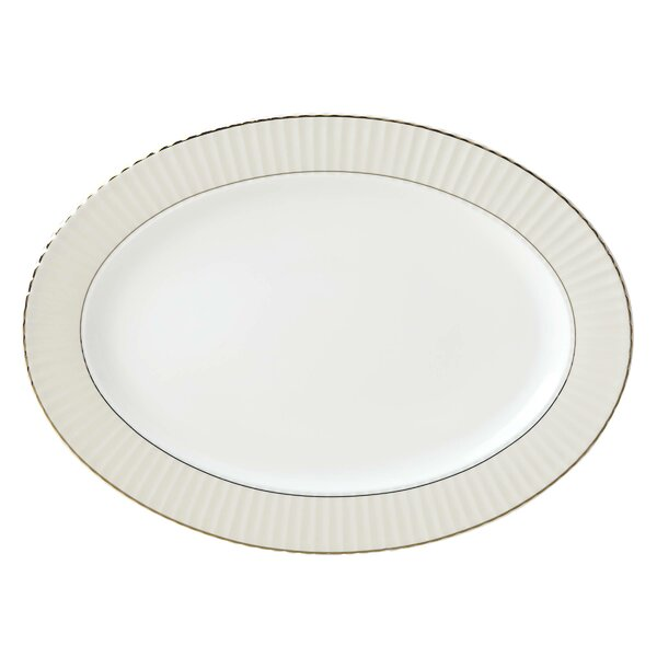 Pleated Bone China Platter by Lenox