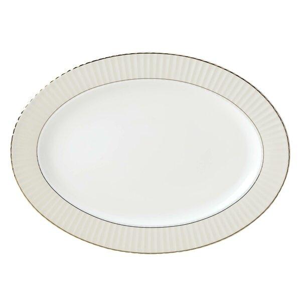Pleated Bone China Platter by Lenox