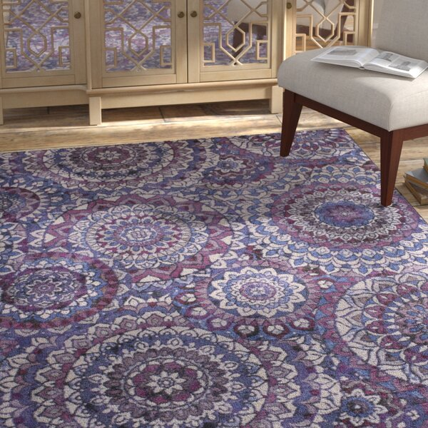 Claude Medallion Purple Area Rug by Bungalow Rose