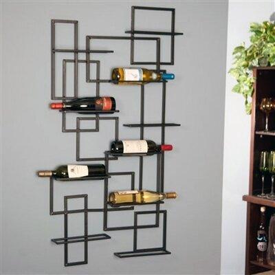 Darren Mid Century 10 Bottle Wall Mounted Wine Rack by Wrought Studio