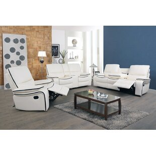Icahn 3 Piece Faux Leather Reclining Living Room Set by Wrought Studio™
