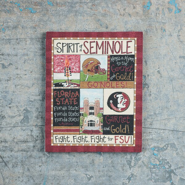 Florida State Spirit Magnet Vintage Advertisement on Canvas by Glory Haus