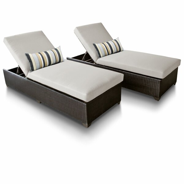 Tegan Reclining Sun Chaise Lounge Set with Cushions (Set of 2) by Sol 72 Outdoor Sol 72 Outdoor