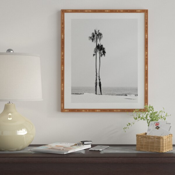 Two Palms Framed Photographic Print by East Urban Home