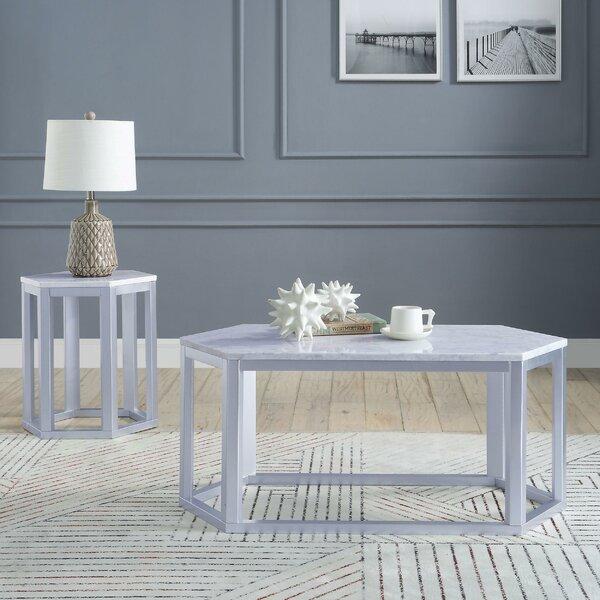 3 Piece Coffee Table Set By Benzara