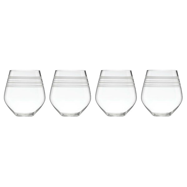 Library Stripe 16 oz. Red Wine Glass (Set of 4) by kate spade new york