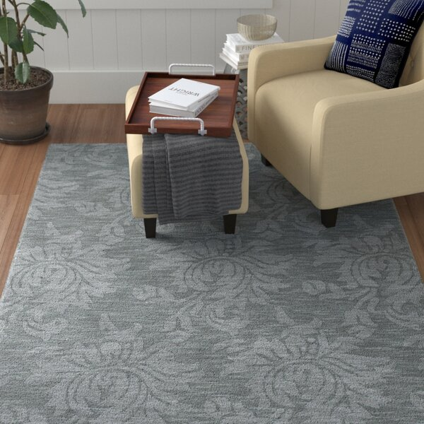 Bradley Gray Blue Area Rug by Winston Porter