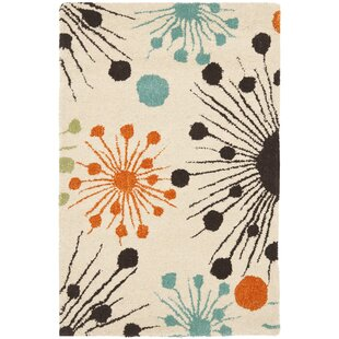 Lyon Fireworks Ivory Area Rug By Wrought Studio