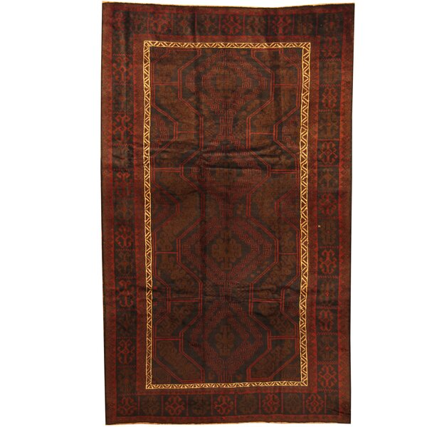 Prentice Hand-Knotted Brown/Ivory Area Rug by Isabelline