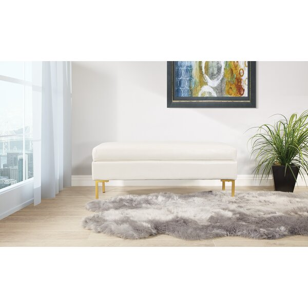 Delahunt Faux Leather Bench by Mercer41