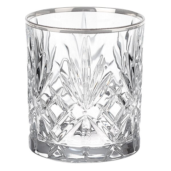 Reagan Crystal 9 Oz. Double Old Fashion Glass (Set of 6) by Lorren Home Trends