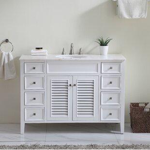 Reviews Sandburg 48 Single Bathroom Vanity Set ByBeachcrest Home