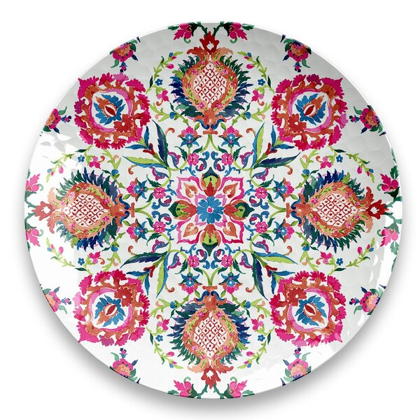 Phair Indie Floral Round Melamine Platter by Bungalow Rose