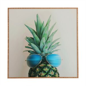 'Pineapple In Paradise' Framed Photographic print by East Urban Home
