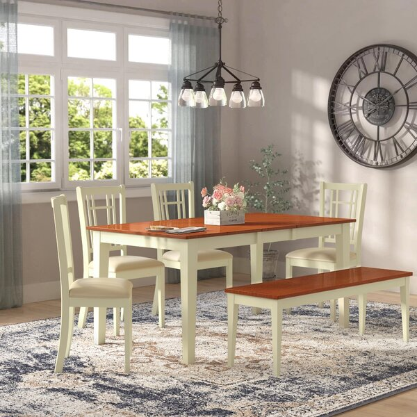 Cleobury 6 Piece Extendable Dining Set by August Grove