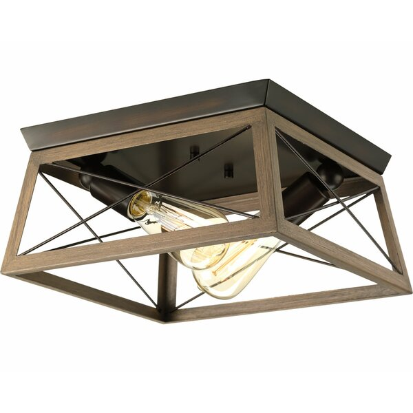 Delon 2-Light Flush Mount by Laurel Foundry Modern