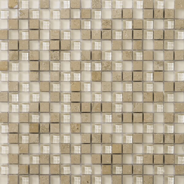 Lucente .6 x .6/12 x 12 Glass Stone Blend Mosaic Tile in Lido by Emser Tile