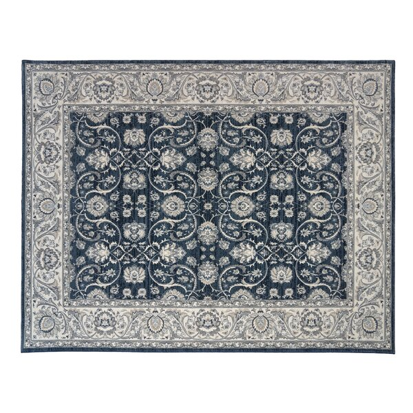 Yerby Denim/Gray Area Rug by Alcott Hill