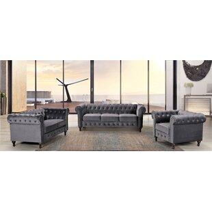 Oriskany 3 Piece Living Room Set by Rosdorf Park