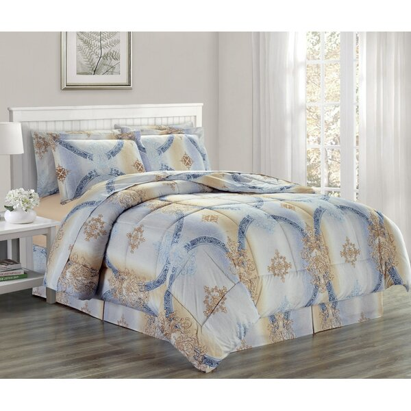 Egremt Printed Bed Comforter Set by House of Hampton