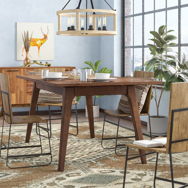 Lehto Drop Leaf Dining Table by Union Rustic