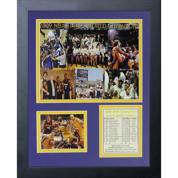 2009 Los Angeles Lakers NBA Champions Framed Memorabilia by Legends Never Die