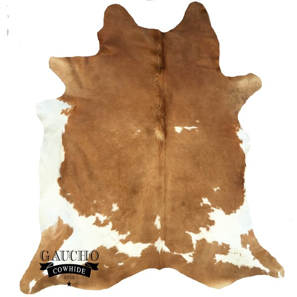One-of-a-Kind Pinney Beige/White Cowhide Area Rug by Loon Peak