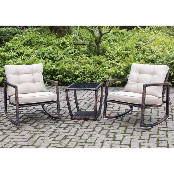 Petrin Steel Frame 3 Piece Bistro Set with Cushions by Bloomsbury Market