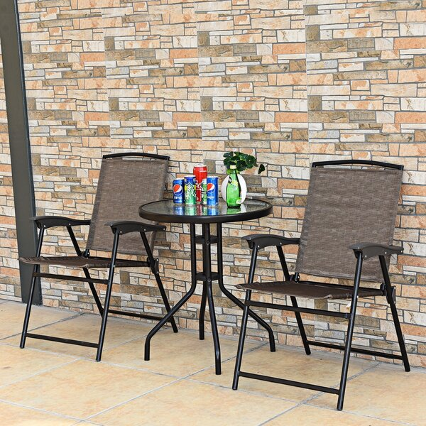 Isahag Patio 3 Piece Bistro Set