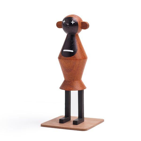 Funny Farm He Monkey Handmade Wood Figurine by LZF