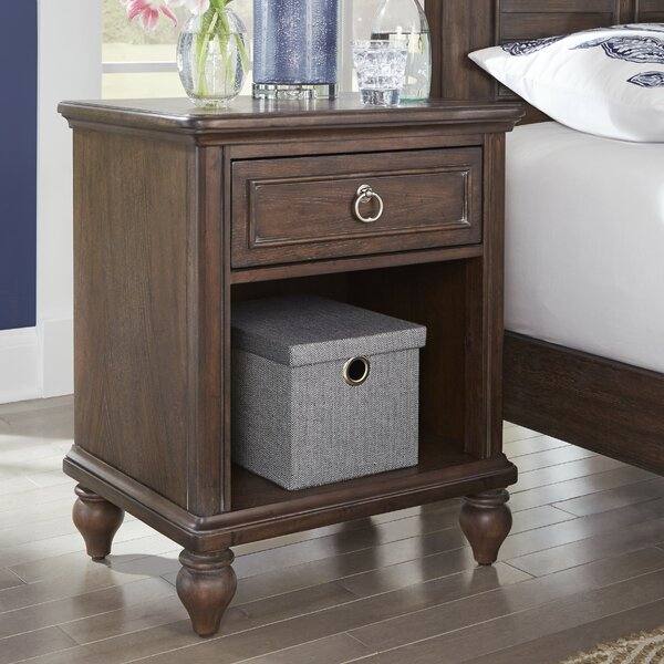 Caitlynn 1 Drawer Nightstand by Longshore Tides